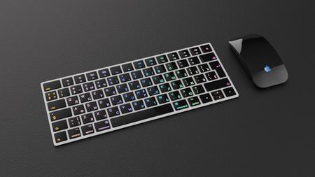 新手练习,发光字键盘
