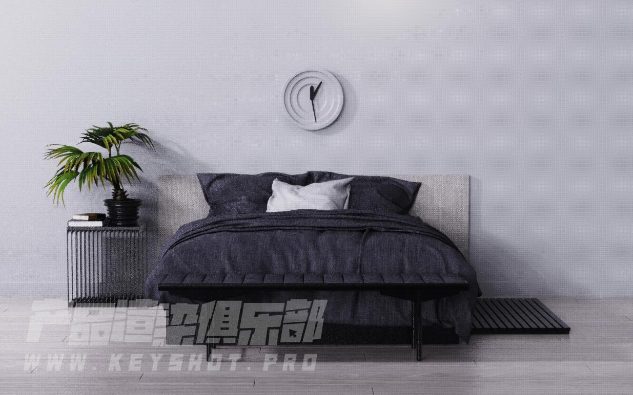 简约房间床头KSP渲染源文件
