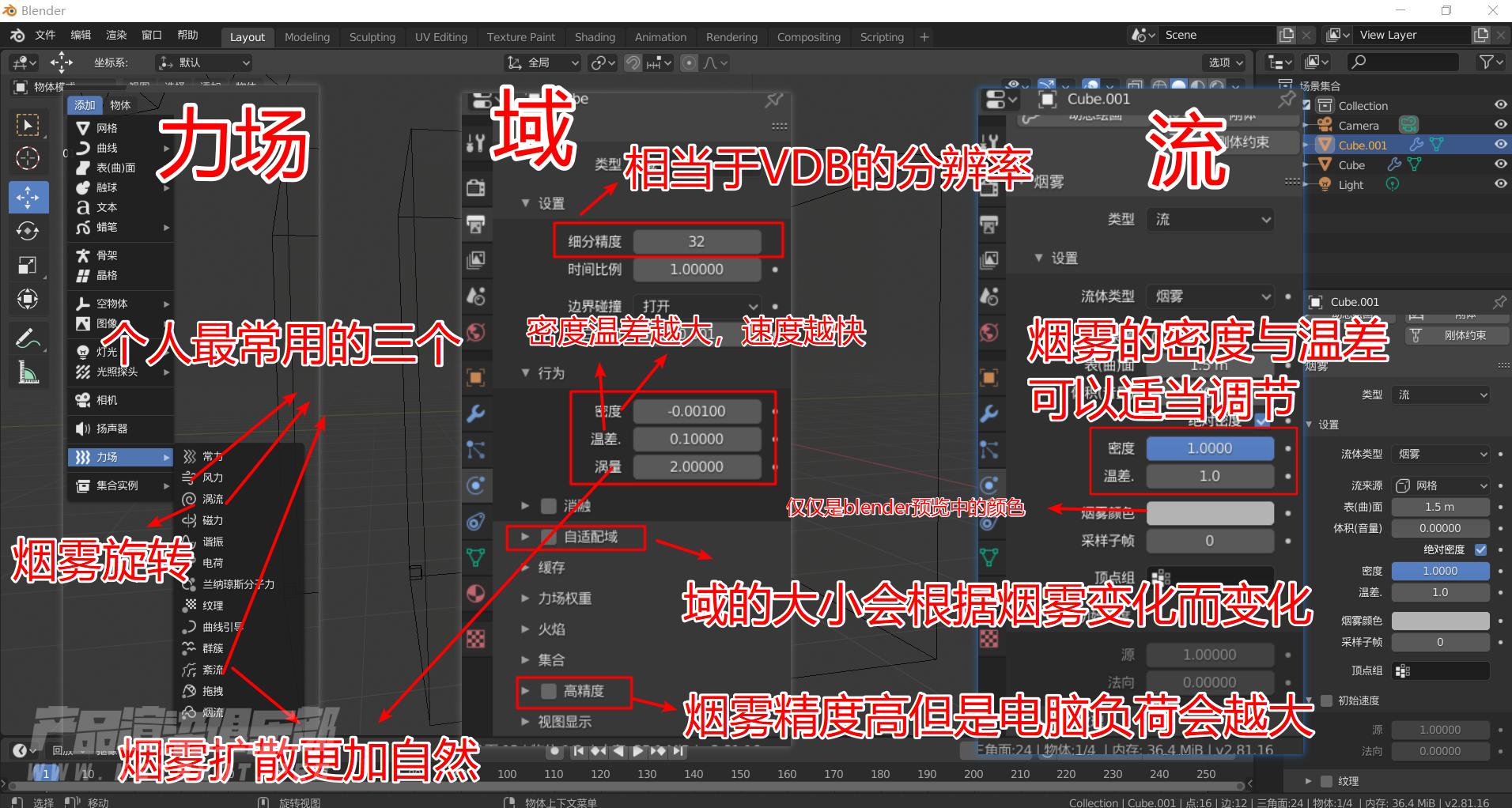 【教程】Keyshot结合Blender制作自己想要的烟雾形态(VDB密度贴图)