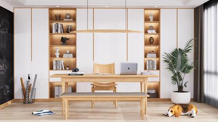 ks书房书桌3D渲染源文件