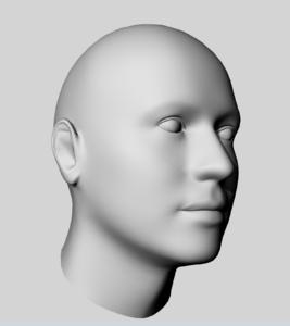 男人头3D模型