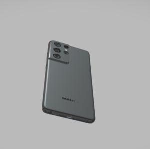 三星s21  s21u手机3D模型