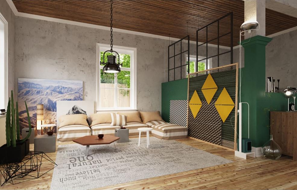 沙发 带场景和贴图