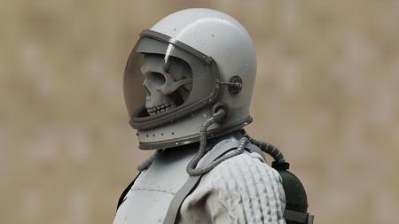 可爱的骷髅宇航员宇航服keyshot渲染文件