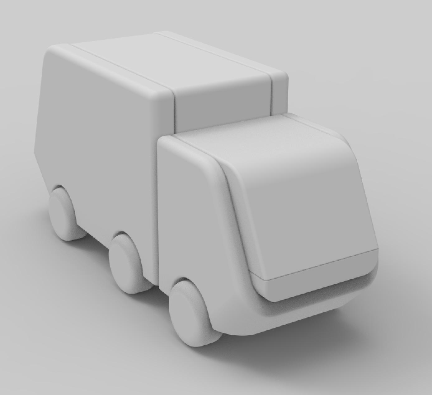 卡通货车3D模型