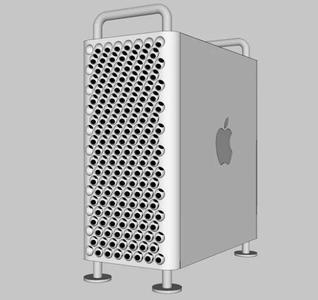 Mac pro 机箱3D模型