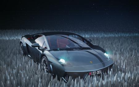 兰博基尼汽车渲染测试