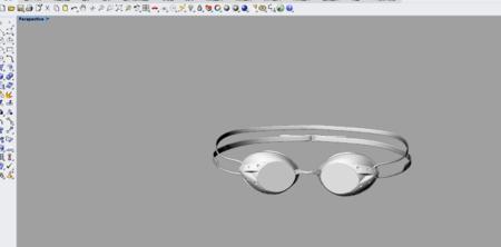 比赛游泳眼镜3D犀牛建模
