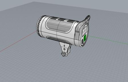 太阳灯cob灯摄影灯3D模型