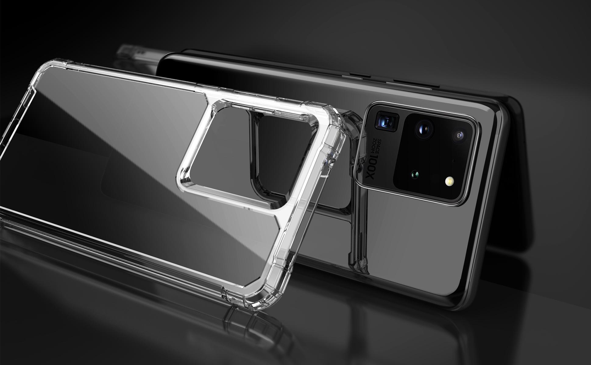 三星S20系列透明手机壳渲染