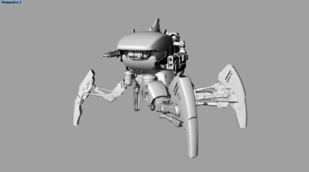 """""""猎杀者""""武装机器人模型"""