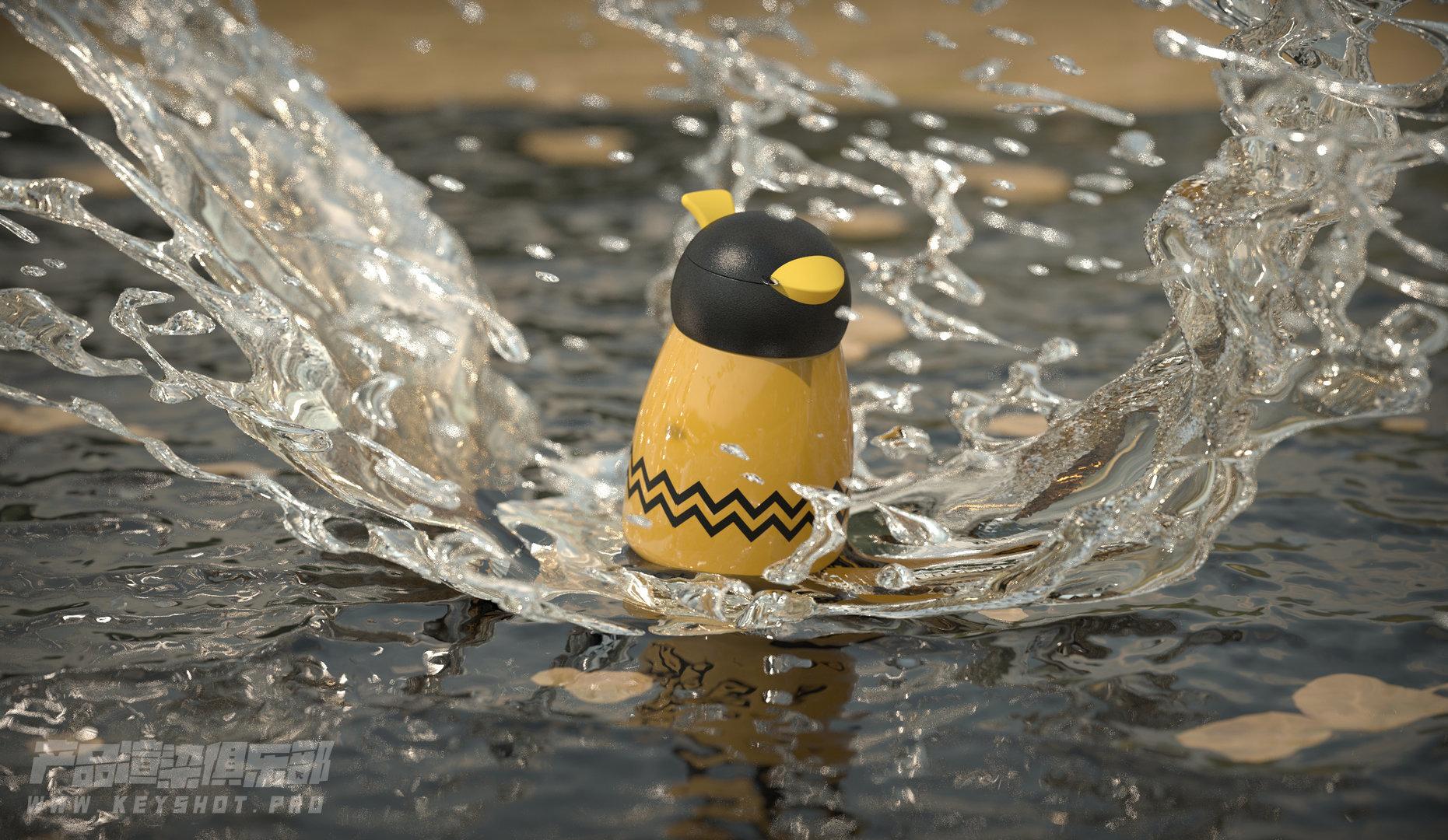 一个掉水里的保温杯