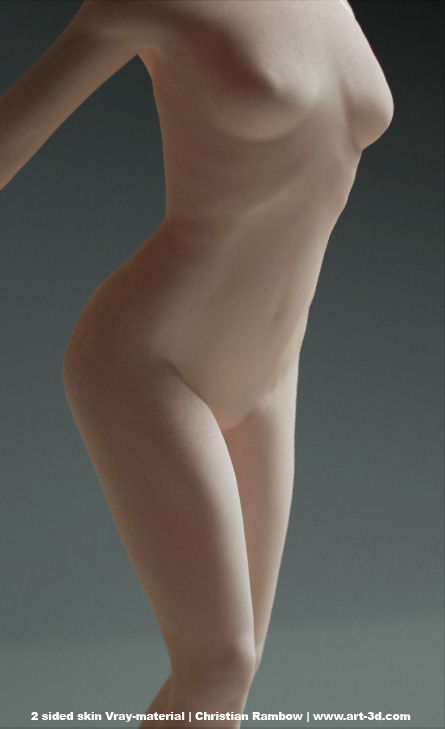 C4D女性人体建模源文件