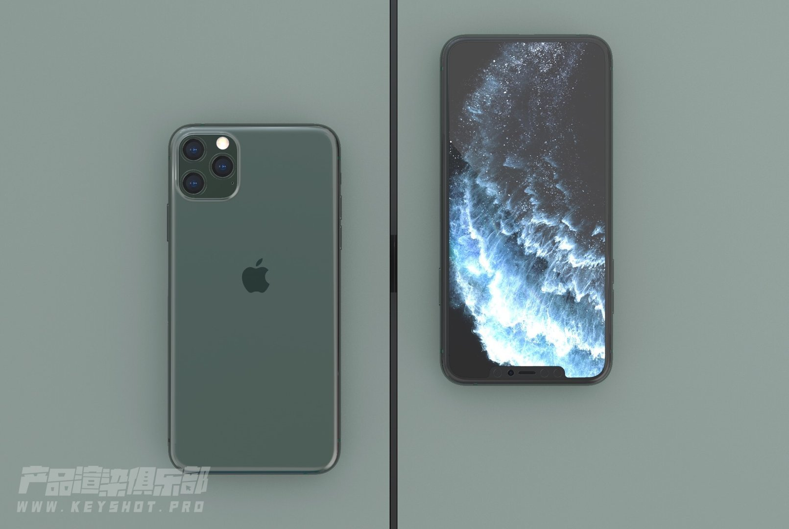 iPhone 11pro render keyshot渲染