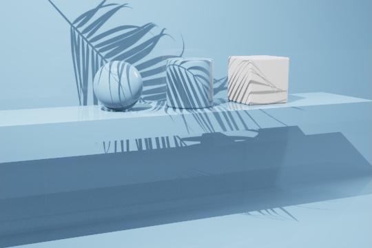 聚光灯植物投影