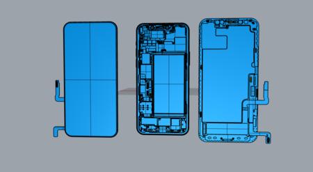 自建iPhone12手机内部结构3D模型