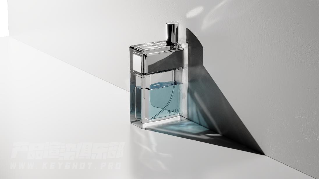 香水瓶临摹,keyshot焦散