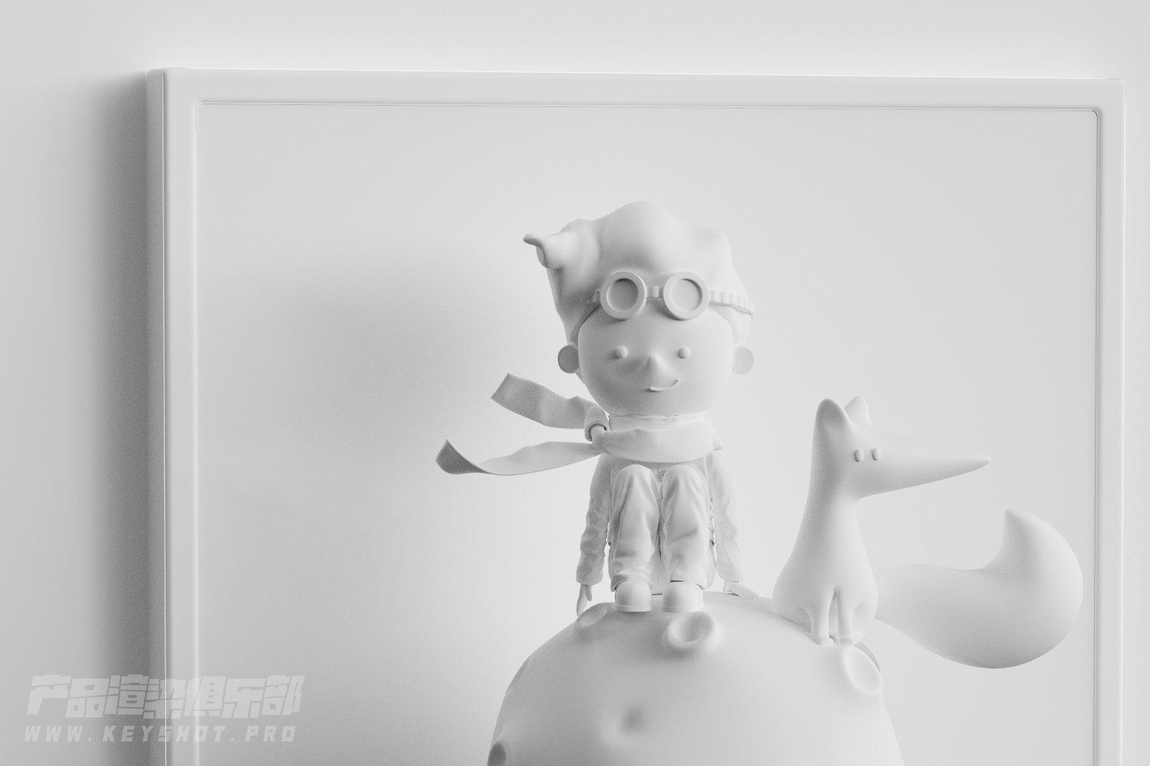 产品渲染/小王子玩偶童趣风格