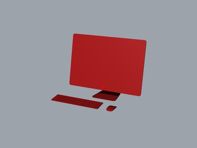 Apple iMac pro全套3D模型文件