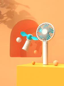 小风扇 简单场景3D渲染文件