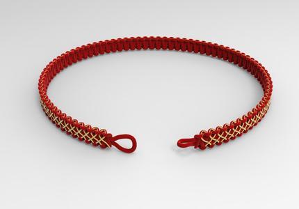 绳结3d模型,方便做首饰的同学