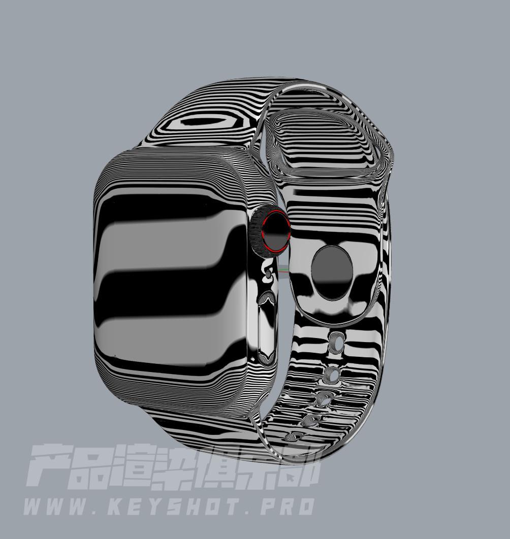 apple watch4智能手表3D模型