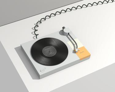 唱片机渲染小练