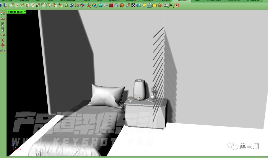 五分钟了解白色产品空气加湿器小场景渲染技巧!