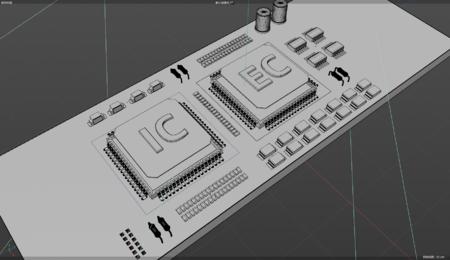 电子芯片3D模型keyshot渲染文件