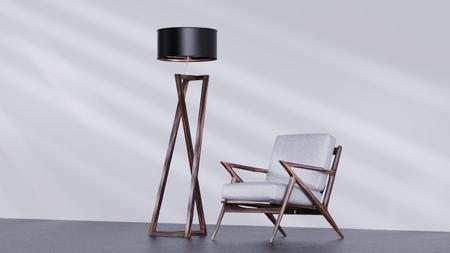 椅子落地灯3D渲染文件