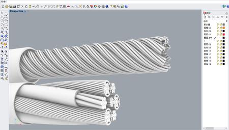 USB电线内部结构犀牛3D模型文件