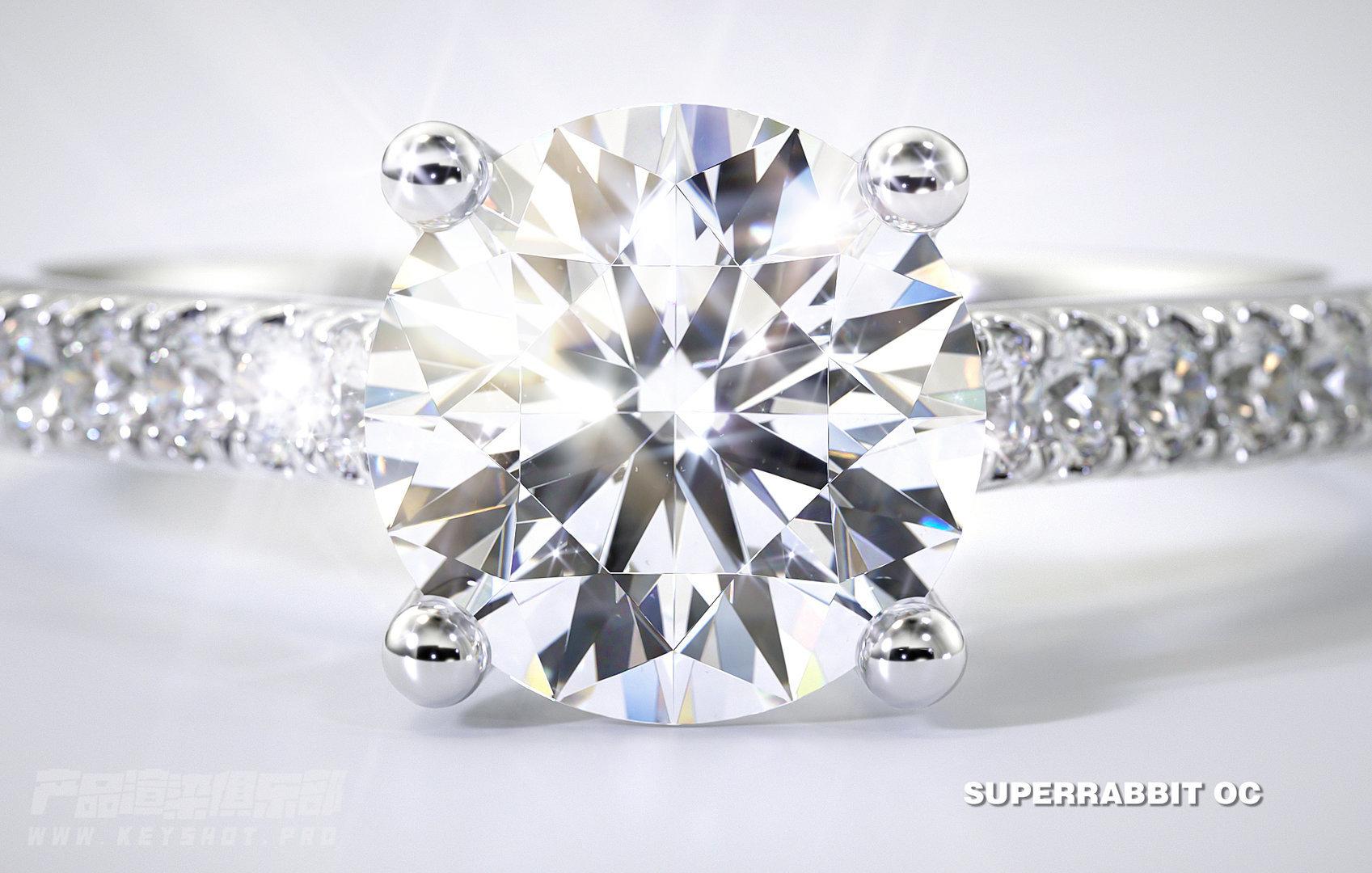 【Octane珠宝系列】钻石戒指案例展示