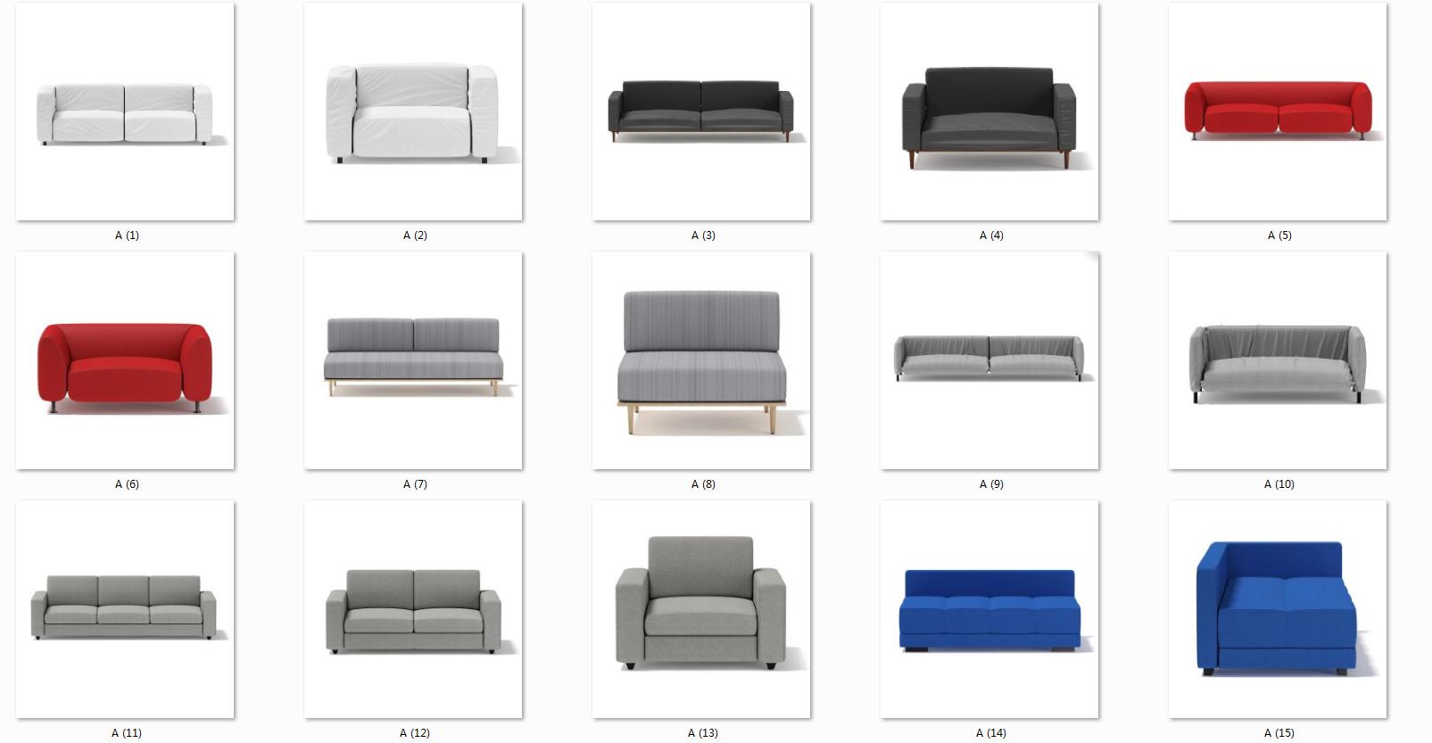 (懒人必备)31款简约家具,自带贴图,多种格式支持~~