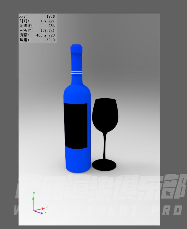 keyshot红酒瓶渲染教程