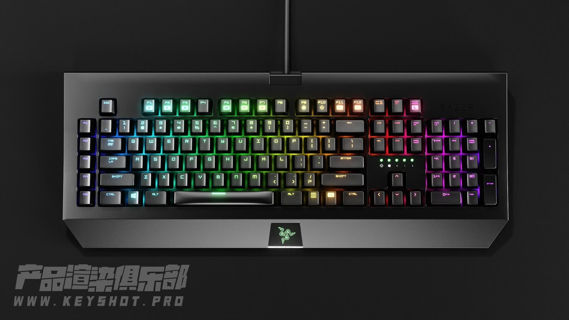 【KEYSHOT10系列】键盘RGB流光动画教程