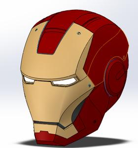 整钢铁侠脑壳3D模型