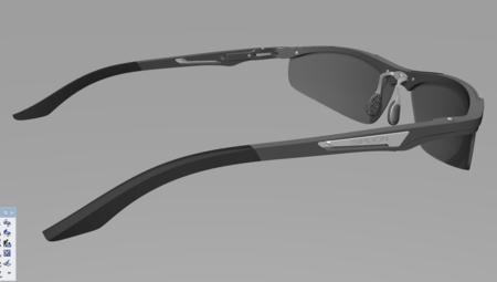 运动眼镜3D模型