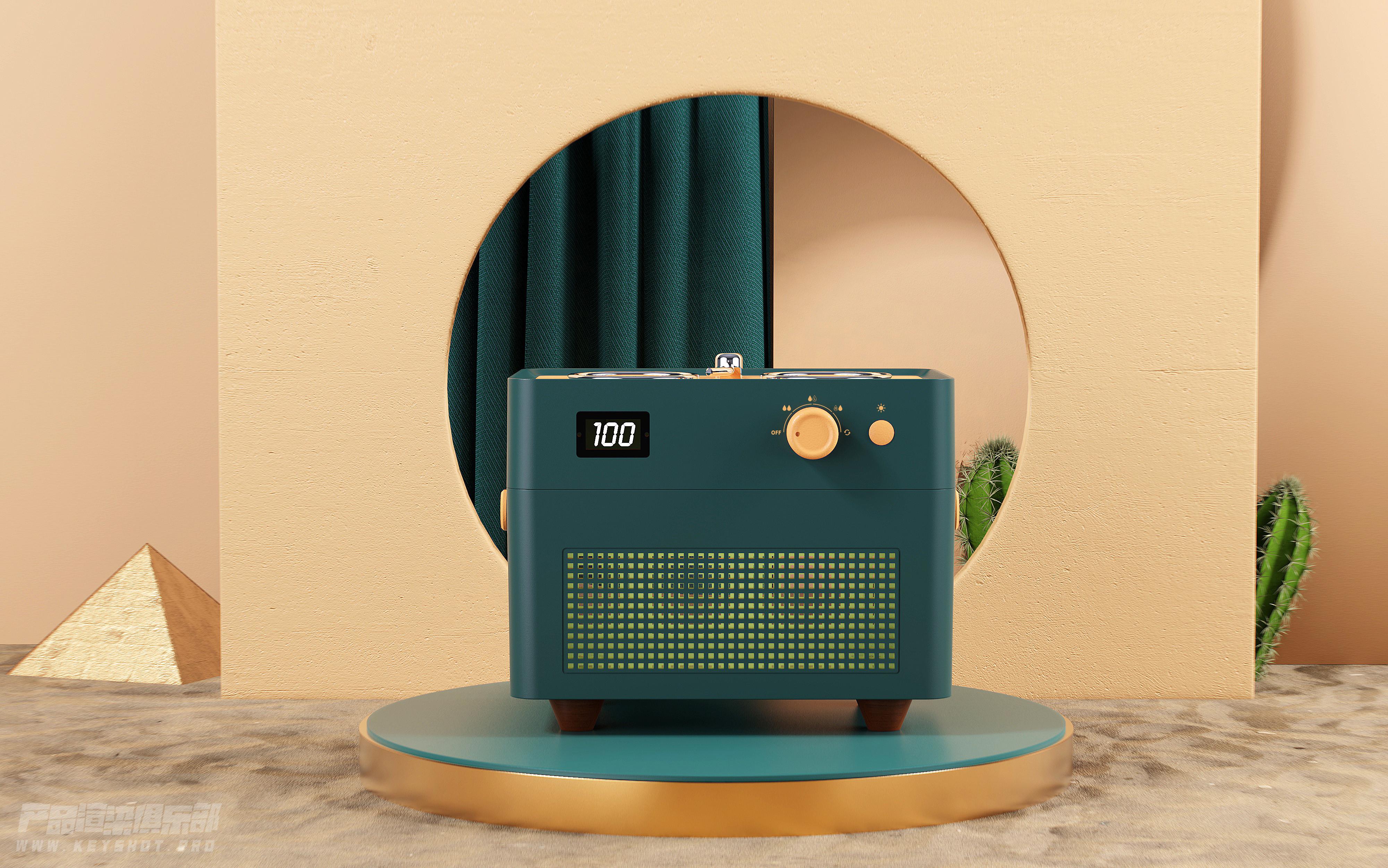 润物细无声——复古唱片机双喷加湿器