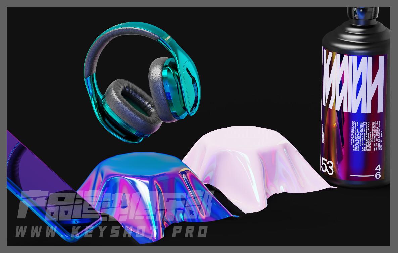 镭射膜、彩虹膜、幻彩膜材质思路分享