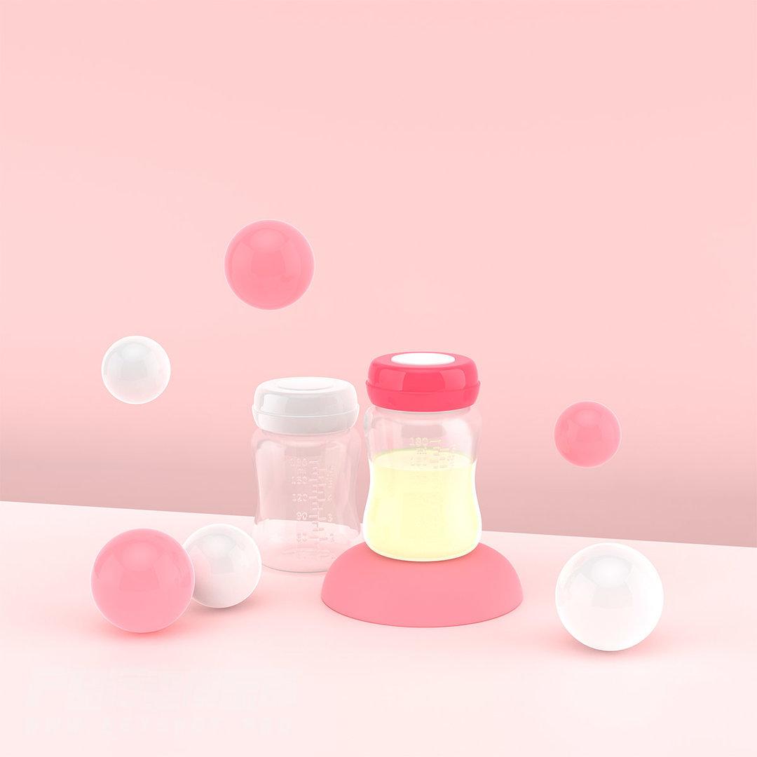 小小一个储奶瓶