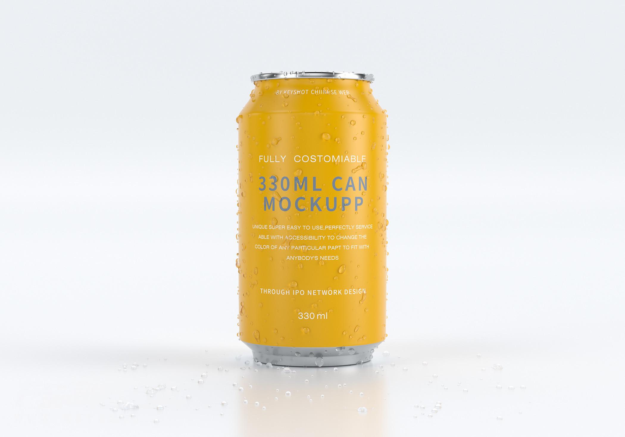啤酒罐(酒水渲染)——第6期两周一练