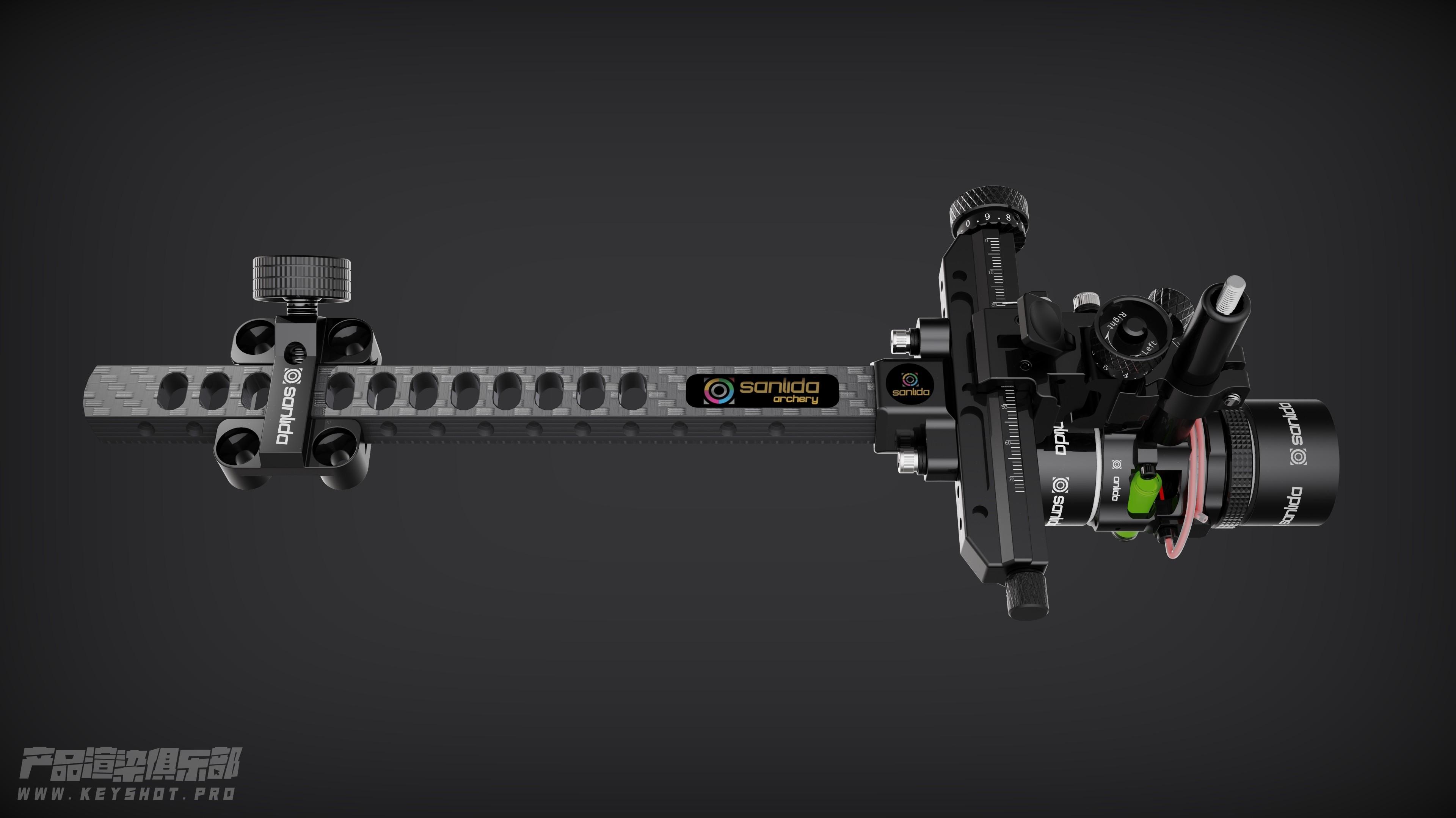 三利达弓箭产品 X10复合瞄准器渲染