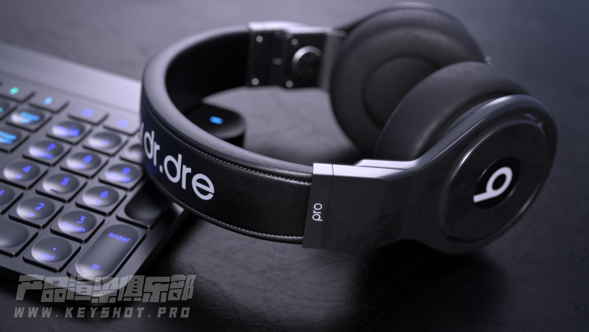 头戴耳机产品渲染