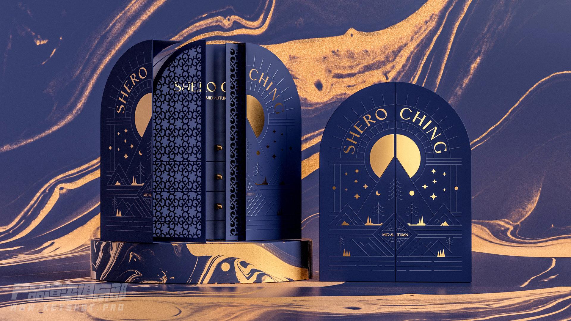 中秋节礼盒【两款】C4D+Octane渲染