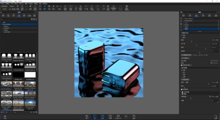 一款充电头水波纹渲染,带ksp源文件以及3d模型