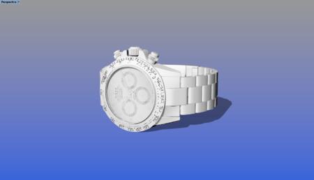 石英机械手表3D模型