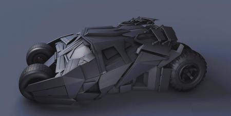 蝙蝠侠战车3D模型