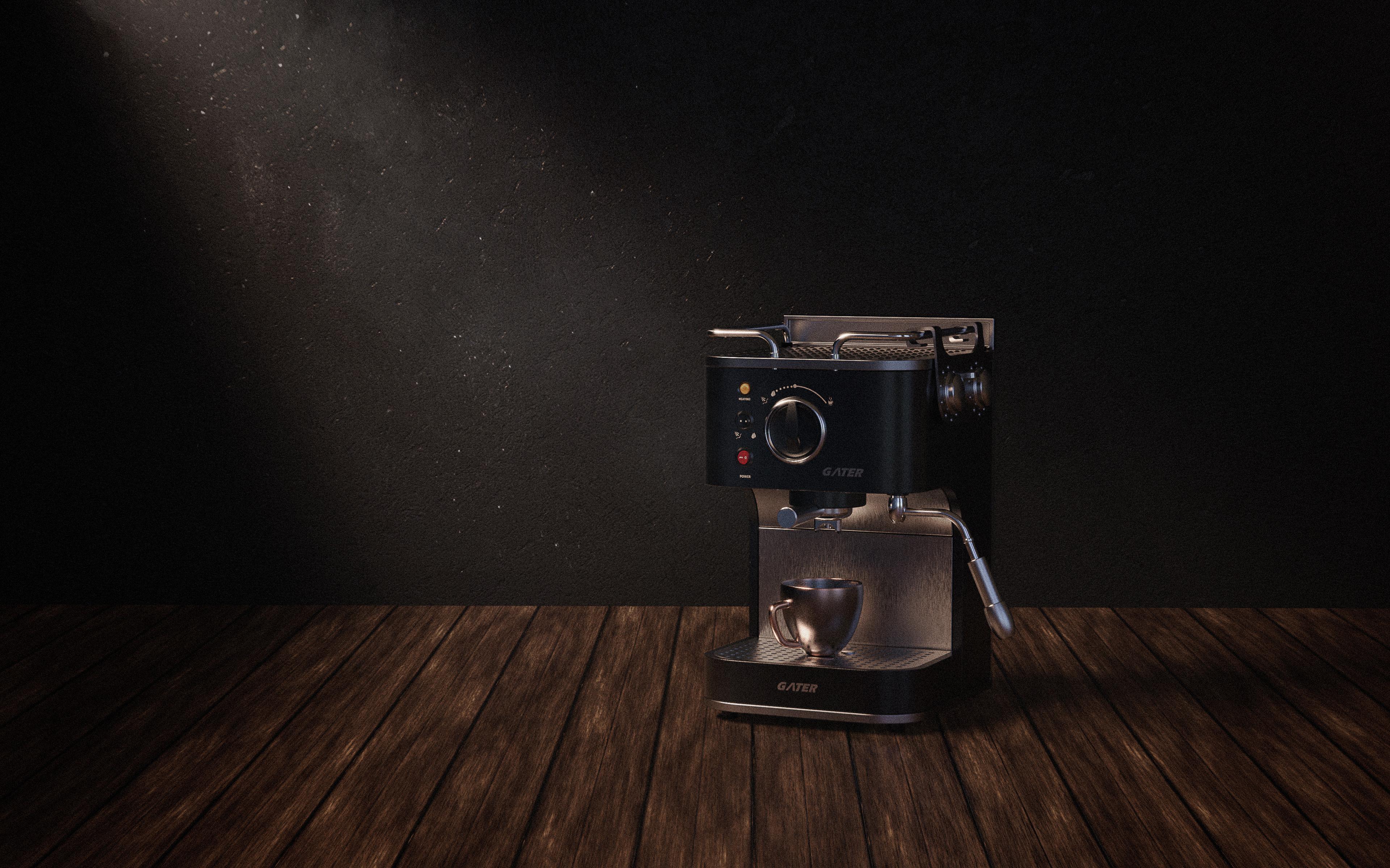 咖啡机渲染2