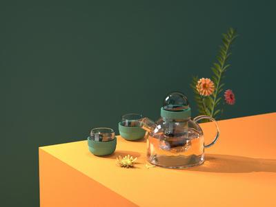 半径茶壶渲染