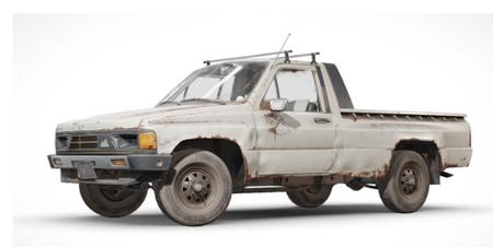 PUBG绝地求生吃鸡雨林图四人车3D模型